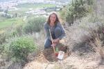 Voluntarios de Málaga plantando árboles, 10 de Marzo de 2015