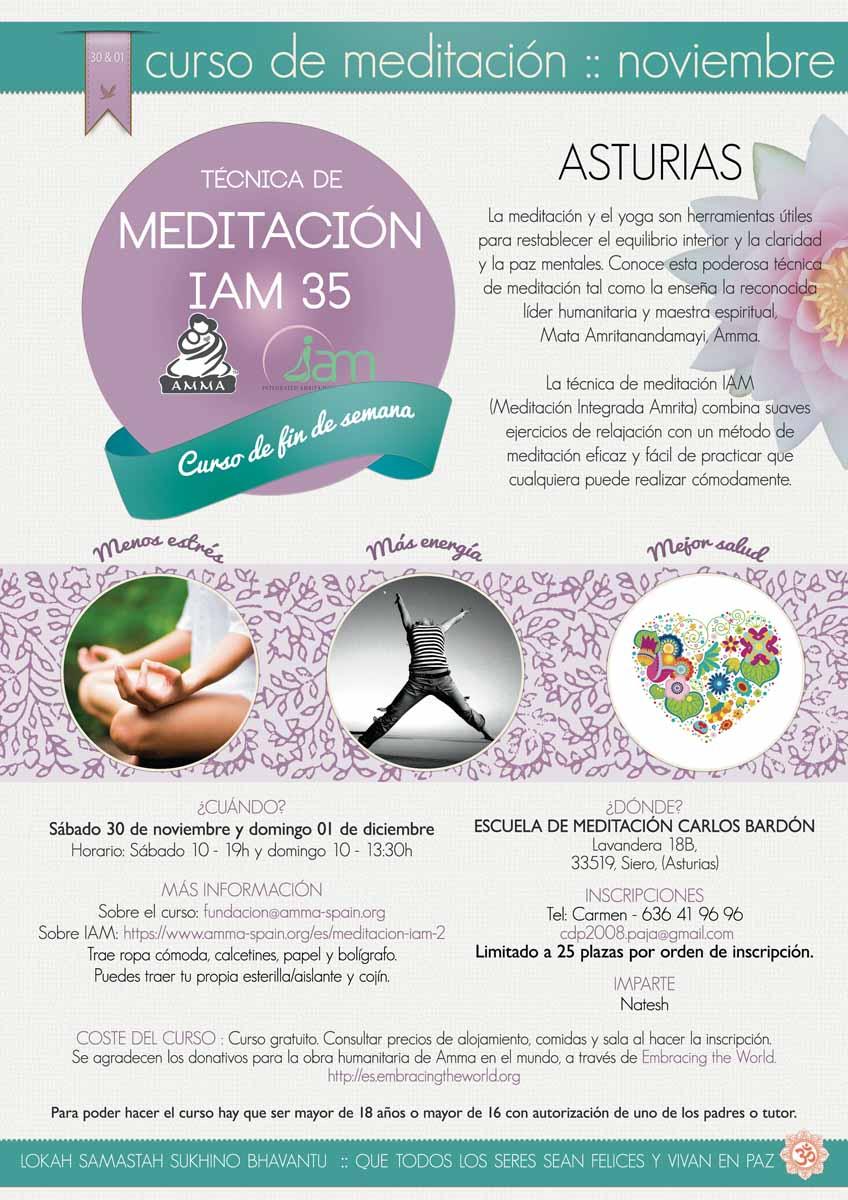 CURSO RETIRO DE INICIACION DE LA MEDITACION IAM 35  ASTURIAS