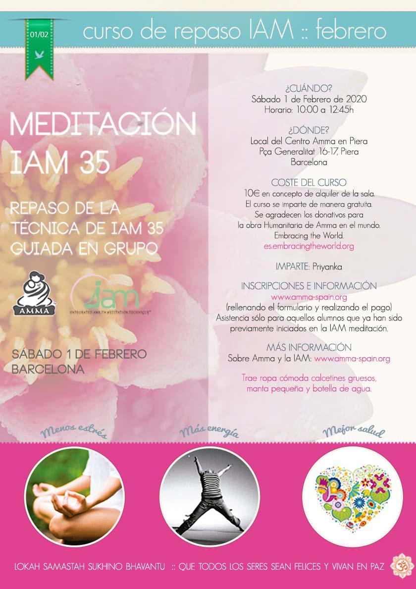 CURSO DE REPASO DE LA MEDITACIÓN IAM EN PIERA (BARCELONA)