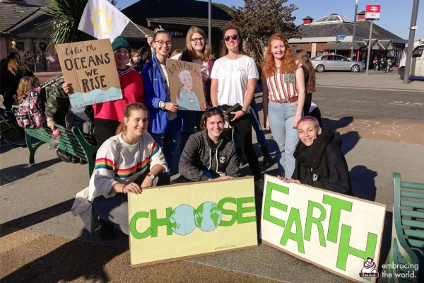 Protesting against climate change in the context of kindness: AYUDH Scotland